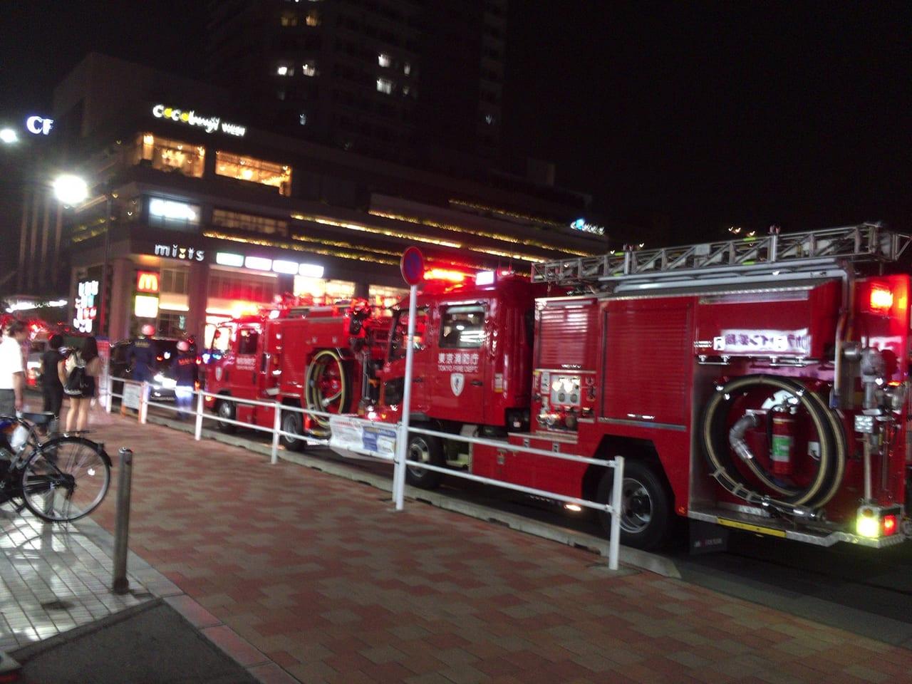 火災?!2020年6月29日(金)20時40分頃、国分寺駅北口に消防車が何台も・・・